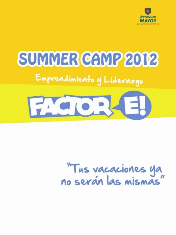 Brochure summer camp 2012