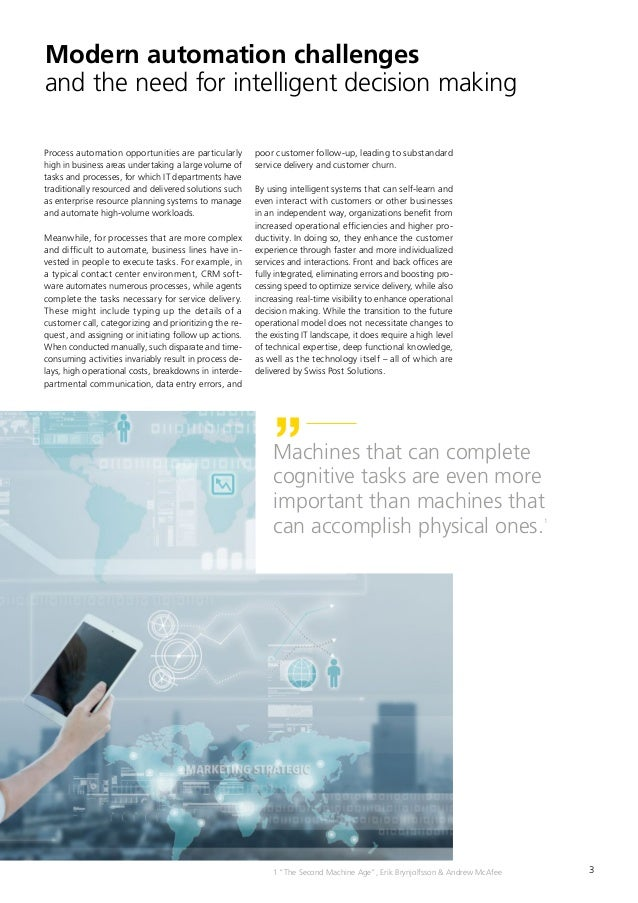 3 Modern automation challenges and the need for intelligent decision making Process automation opportunities are particula...
