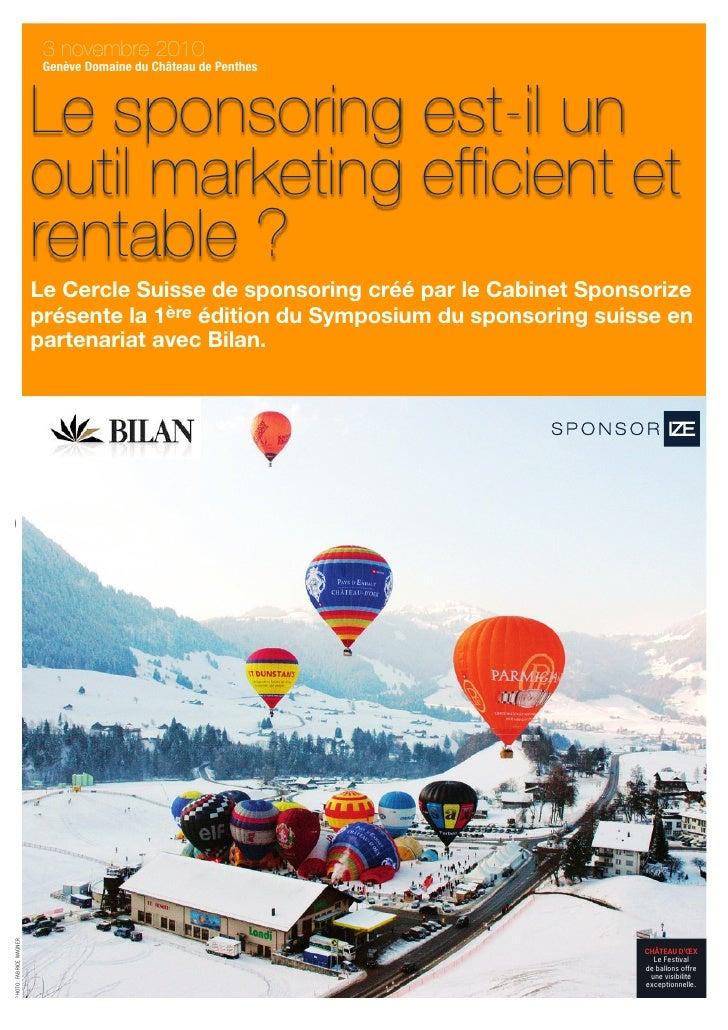Brochure Symposium Du Sponsoring V1