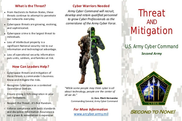 What is the Threat?                          Cyber Warriors Needed♦   From Hactivists to Nation-States, these    threats c...