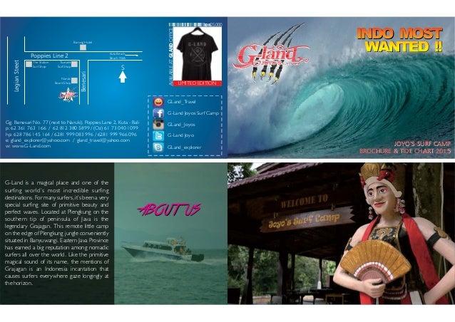 Brochure Tide Chart G Land Joyos Surf Camp