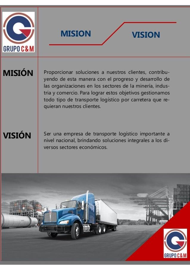 Brochure transporte grupo cym for Empresas de transporte en tenerife