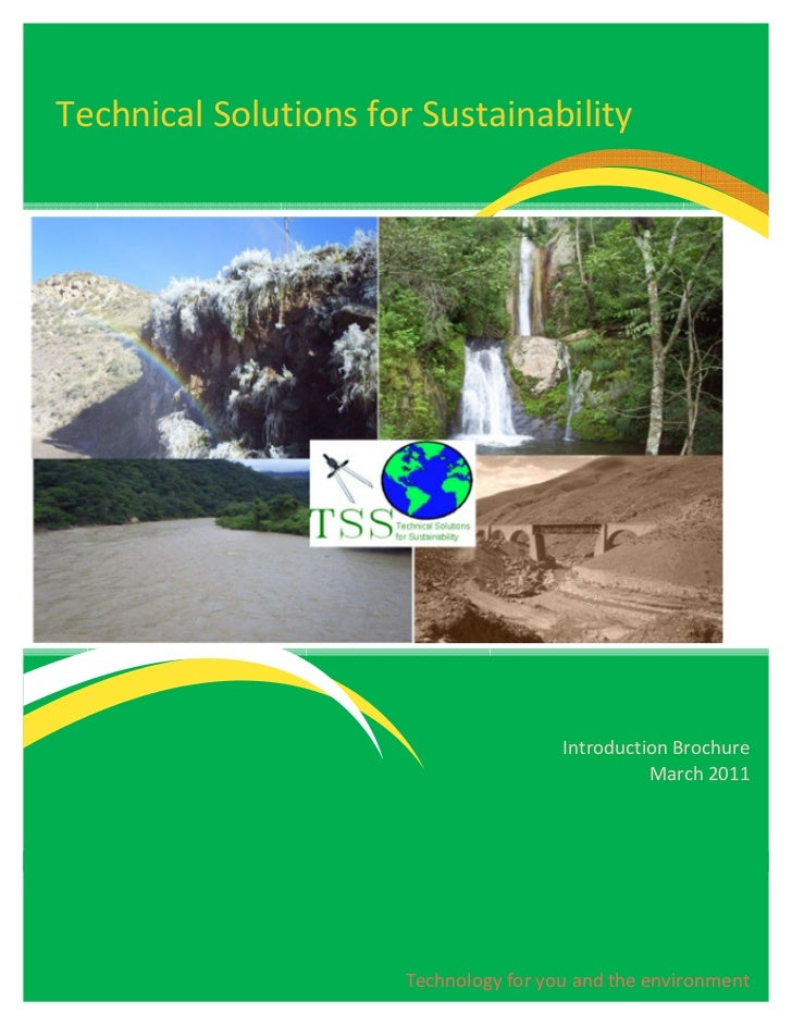 Technical Solutions for Sustainability                                        Introduction Brochure                       ...