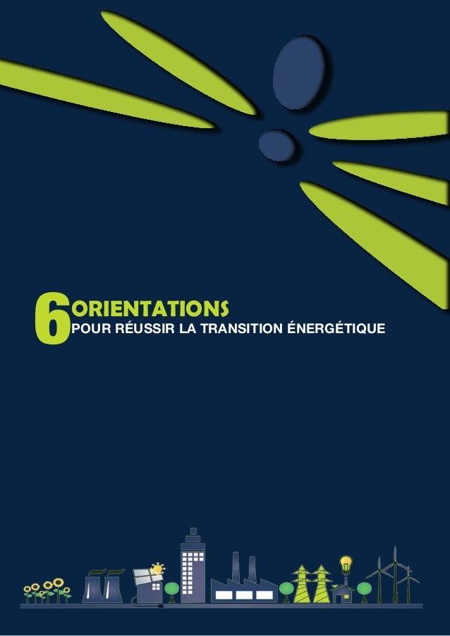 6Orientations pour réussir la Transition énergétique