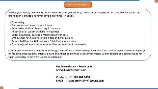 Itsmyaccount  Apartment Management Application