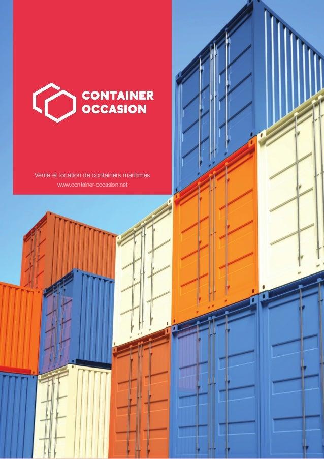 Vente et location de containers maritimes  www.container-occasion.net