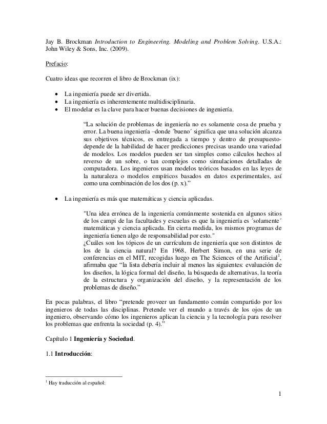 introduction to engineering brockman pdf