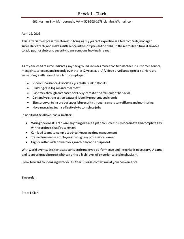 Brock Resume Cover Letter Sport Job