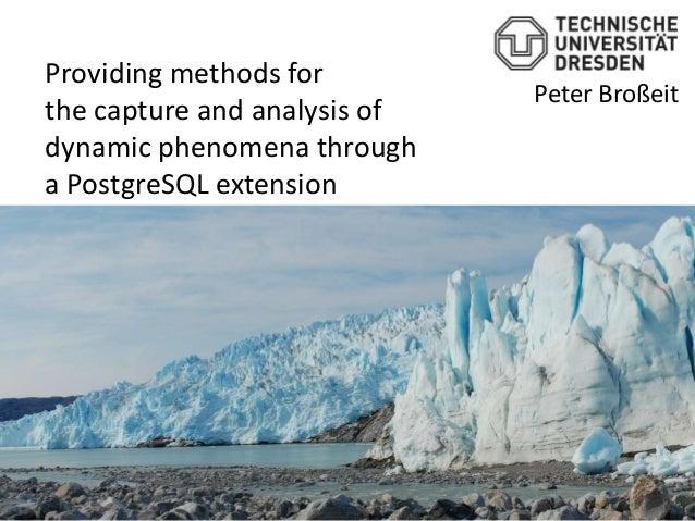 Providing methods for                              Peter Broßeitthe capture and analysis ofdynamic phenomena througha Post...
