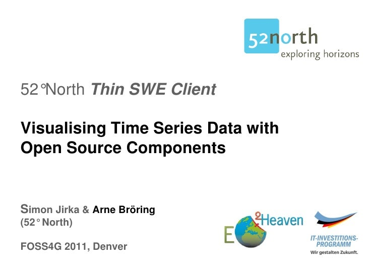 52°North Thin SWE ClientVisualising Time Series Data withOpen Source ComponentsSimon Jirka & Arne Bröring(52° North)FOSS4G...