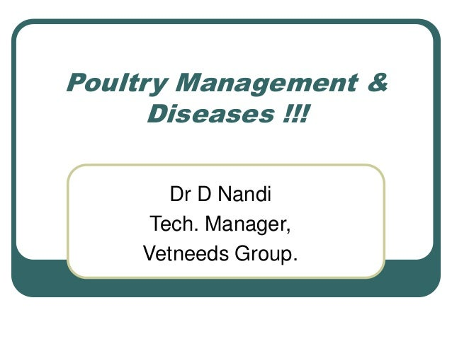 Poultry management & diseases