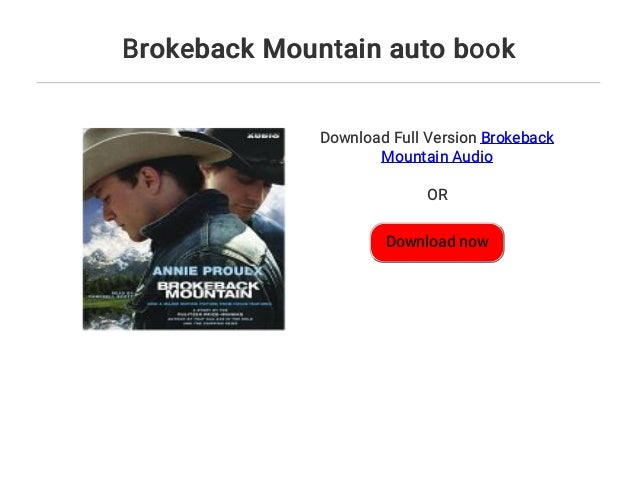 Brokeback Mountain Book