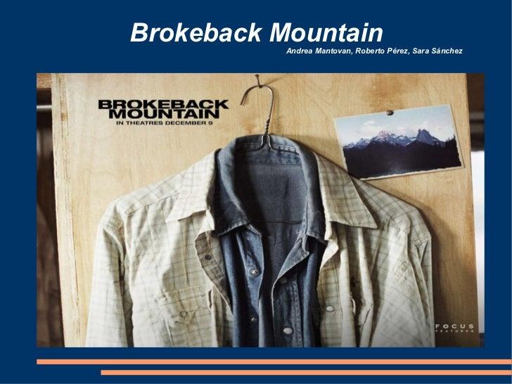 Brokeback Mountain Andrea Mantovan, Roberto Pérez, Sara Sánchez