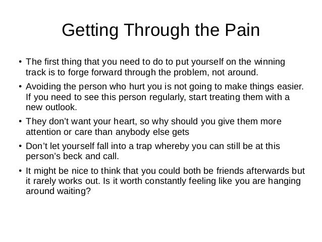 Advice for someone with a broken heart