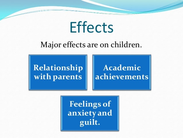 cause and effect of broken home Essays - largest database of quality sample essays and research papers on causes of broken family.