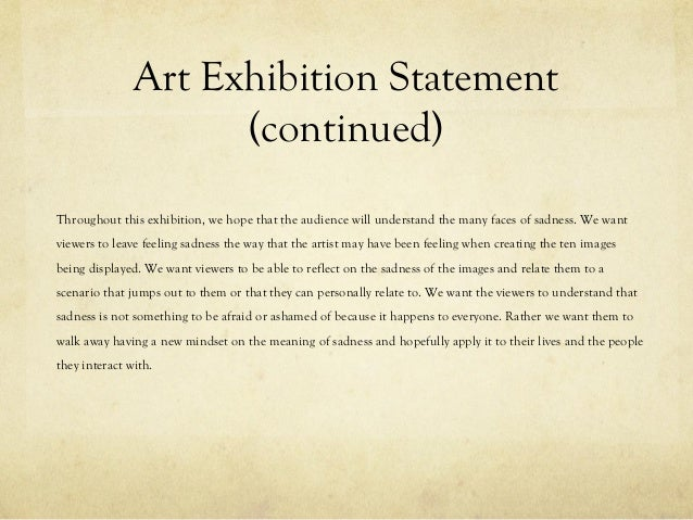 how to write an exhibition statement
