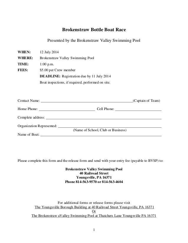 Brokenstraw bottle boat race 2014-entry-form