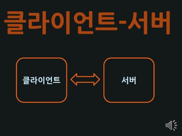 클라이언트-서버  클라이언트   서버