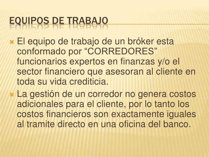 Broker financiero for Oficinas de banco financiero