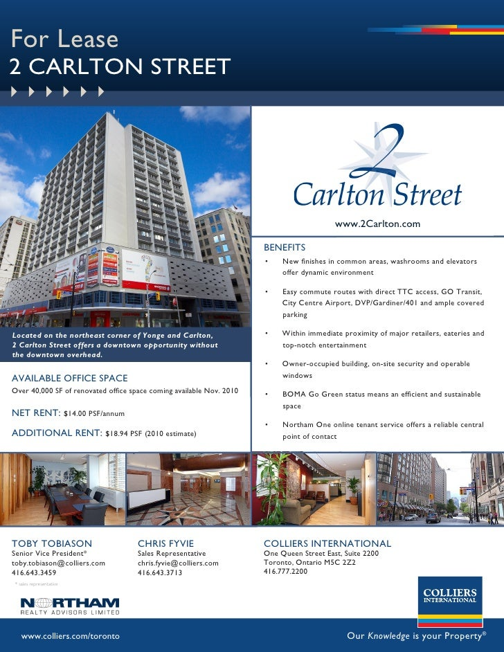 For Lease 2 CARLTON STREET                                                                                               w...