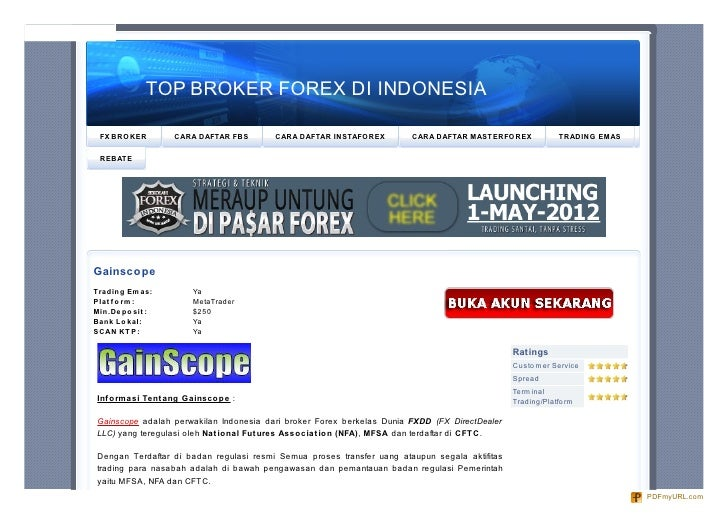 Broker forex micro indonesia