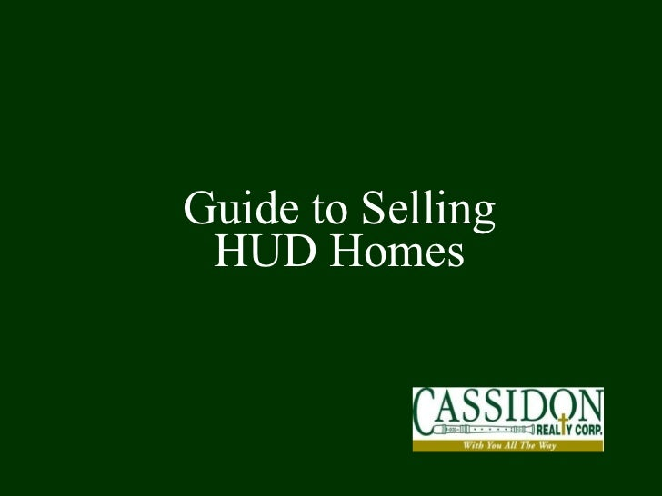 Guide to Selling HUD Homes