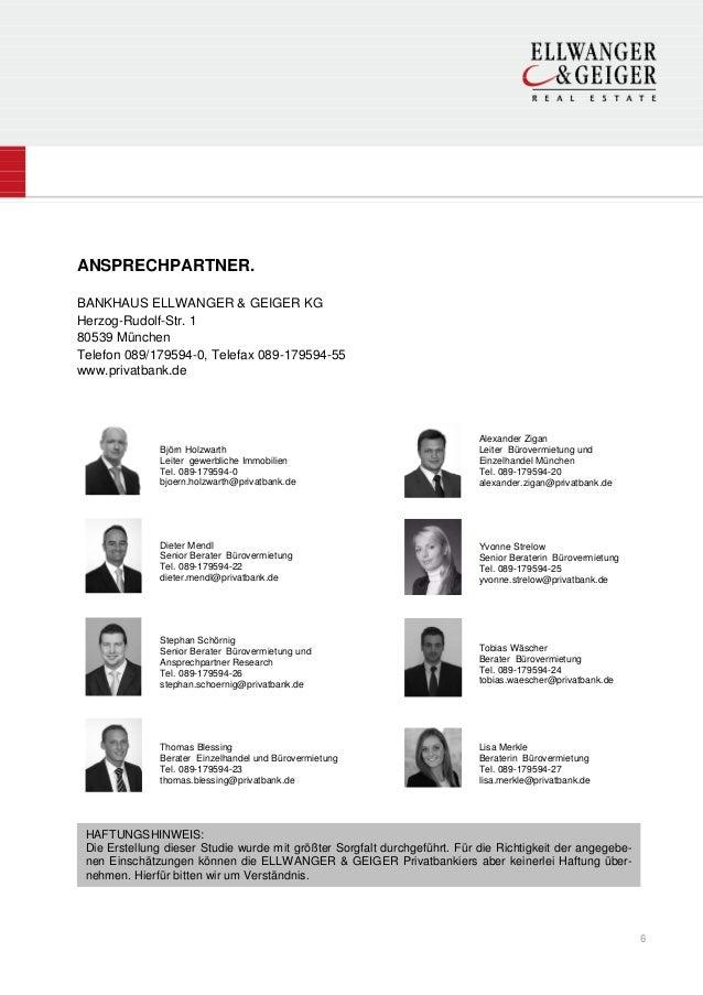 ANSPRECHPARTNER.BANKHAUS ELLWANGER & GEIGER KGHerzog-Rudolf-Str. 180539 MünchenTelefon 089/179594-0, Telefax 089-179594-55...