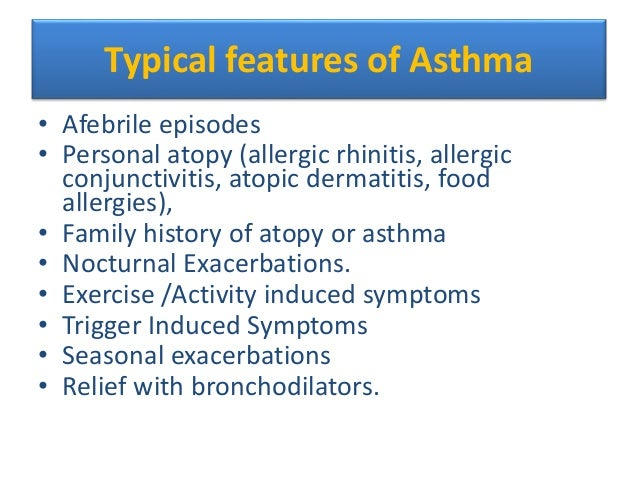 Age features of bronchial asthma in children dissertation