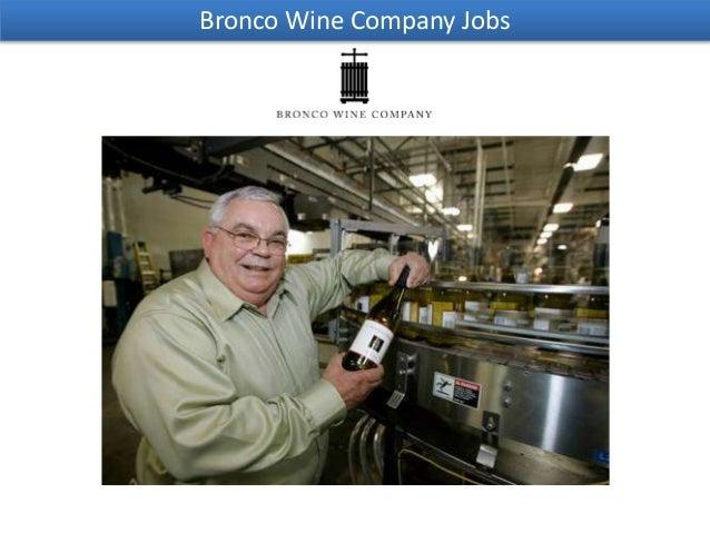Bronco Wine Company Jobs
