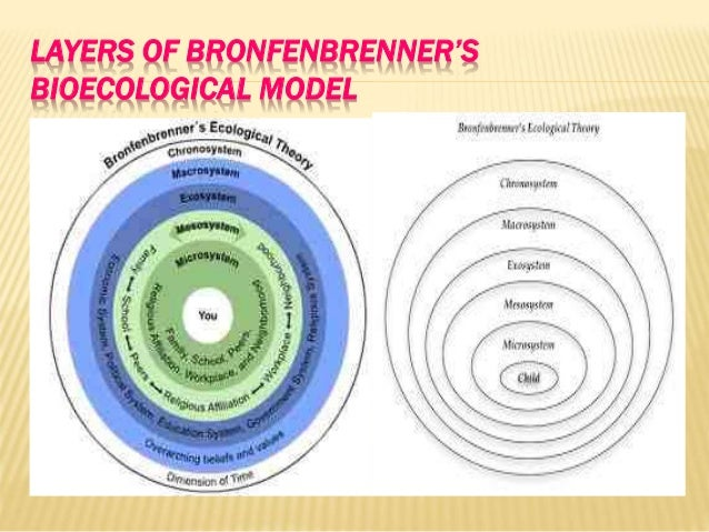 the four systems of the bioecological Understanding children in context: the ecological model of human  the systems affect the child's development and socialization - as do all the systems.