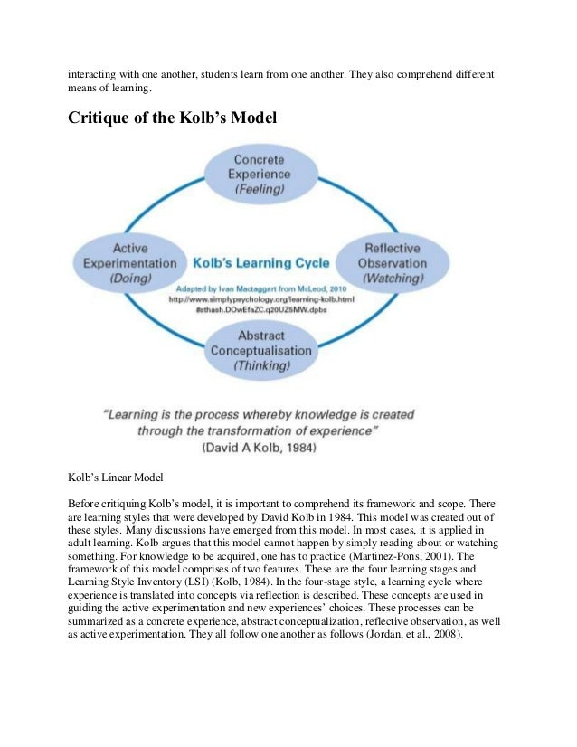 reflective essay kolb learning cycle Kolb's reflective cycle edd teacher loading  how do you write a reflective essay - duration:  kolb's learning cycle - duration:.
