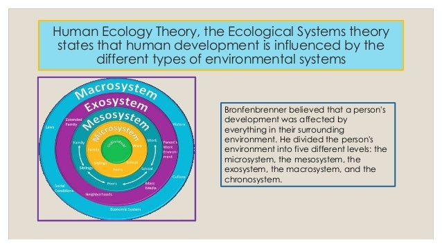 an analysis of ecological theories of human development Urie bronfenbrenner developed the ecological systems theory to explain how everything in a child and the child's environment affects theories of development.