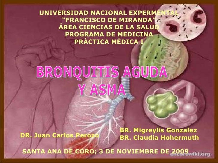 """UNIVERSIDAD NACIONAL EXPERMENTAL""""FRANCISCO DE MIRANDA""""ÁREA CIENCIAS DE LA SALUDPROGRAMA DE MEDICINAPRÁCTICA MÉDICA I<br />..."""