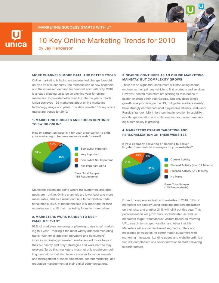 10 Key Online Marketing Trends for 2010     by Jay Henderson     More Channels, More Data, anD Better tools               ...