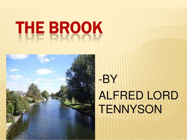 THE BROOK-BYALFRED LORDTENNYSON