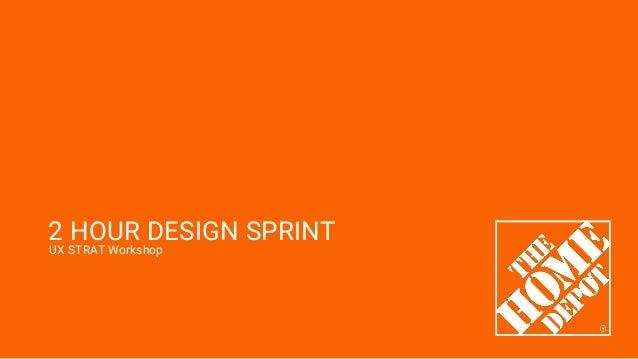 UX STRAT Workshop 2 HOUR DESIGN SPRINT