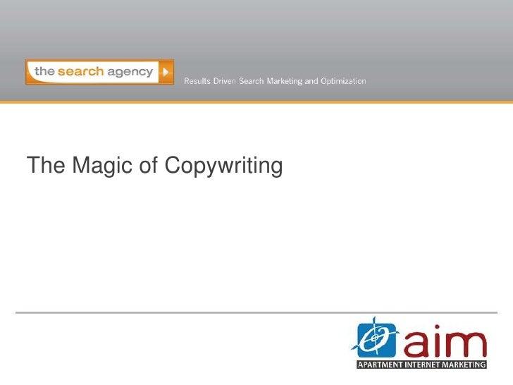 The Magic of Copywriting<br />
