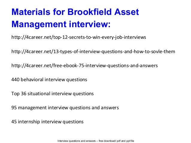 Amazing Brookfield Asset Management Resume Pictures - Best Resume ...