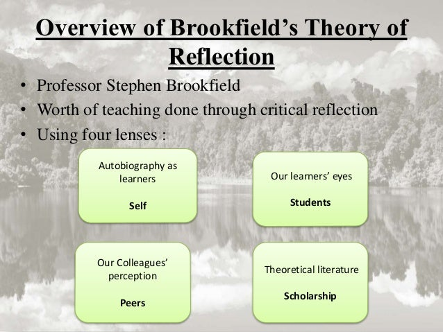 reflection on theorists theories Purpose the purpose of this paper is to analyse the critical role reflection plays  in  kolb's (1984) model is based on his experiential learning theory and used.