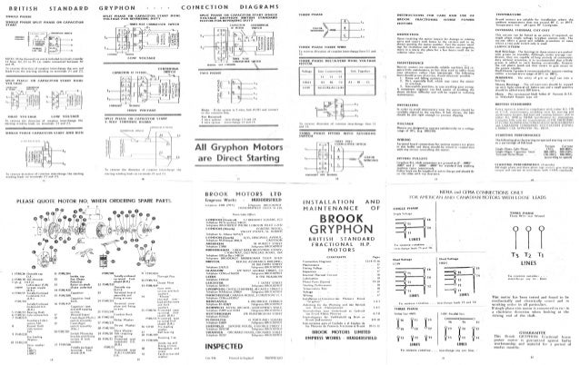 brook gryphon 1hp motor connection diagram rh slideshare net cleaver brooks cb200 wiring diagram Basic Electrical Wiring Diagrams