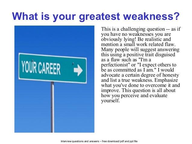 interview weaknesses list