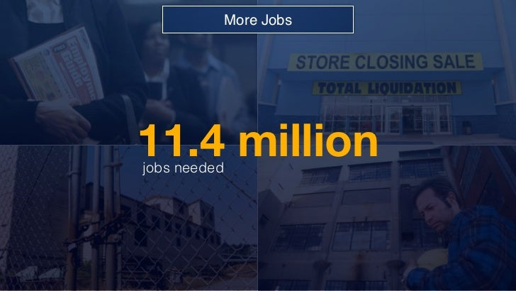 More Jobs11.4 millionjobs needed