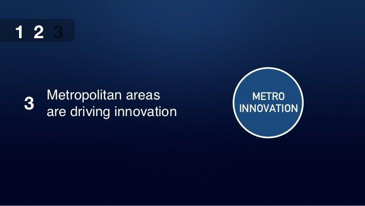 1 2 3    Metropolitan areas         METRO3   are driving innovation   INNOVATION