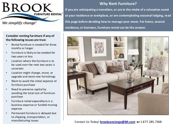 Why Rent Furniture? If You Are Anticipating ...