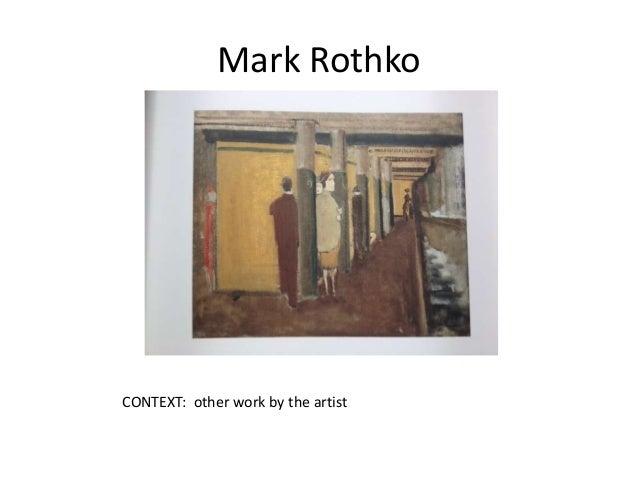 subway scene rothko