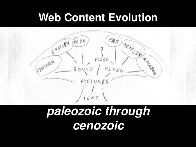 Web Content Evolution paleozoic through     cenozoic