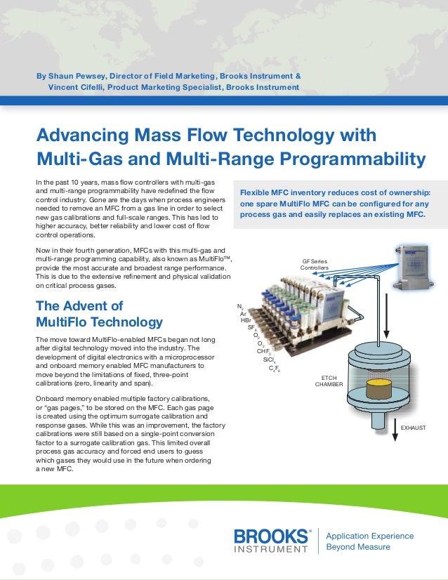 Advancing Mass Flow Technology with  Multi-Gas and Multi-Range Programmability  By Shaun Pewsey, Director of Field Marketi...