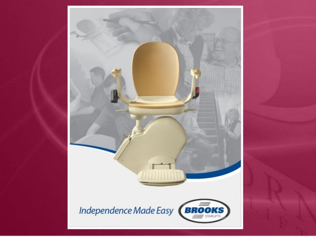 Swivel Seat • The Stairlift seat swivels and locks in position at 45 and 90 degrees and puts users fee firmly on to the to...