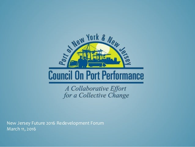 New Jersey Future 2016 Redevelopment Forum March 11, 2016