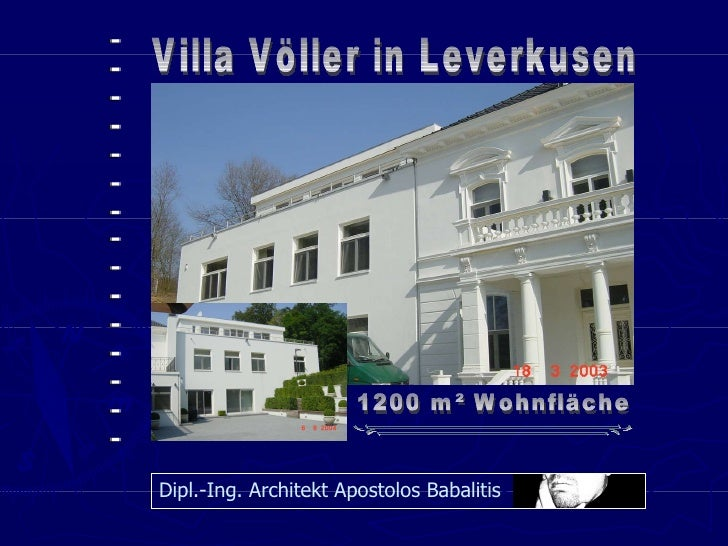 Architekt Leverkusen büopräsentation